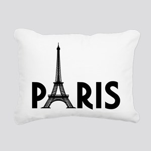 Paris w/ Eiffel Rectangular Canvas Pillow