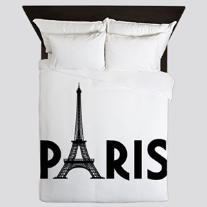 Paris w/ Eiffel Queen Duvet