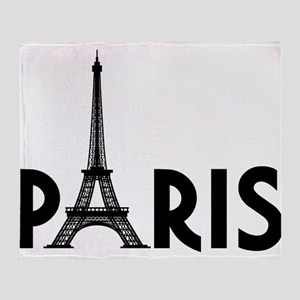 Paris w/ Eiffel Throw Blanket