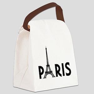 Paris w/ Eiffel Canvas Lunch Bag