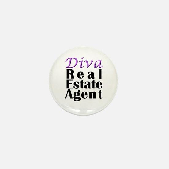 Diva Real estate Agent Mini Button