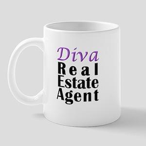 Diva Real estate Agent Mug