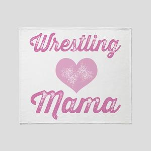 Wrestling Mom Throw Blanket