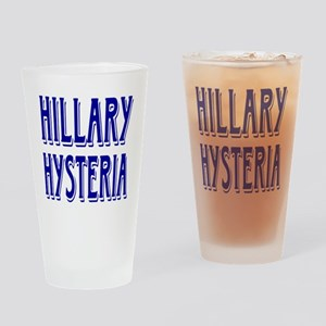 HILLARY HYSTERIA Drinking Glass