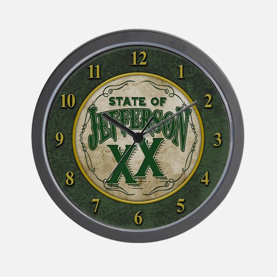 Jefferson XX State Wall Clock