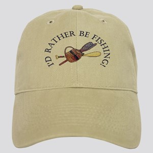 b1a76db6445 Hats. I d Rather Be Fishing! Baseball Cap