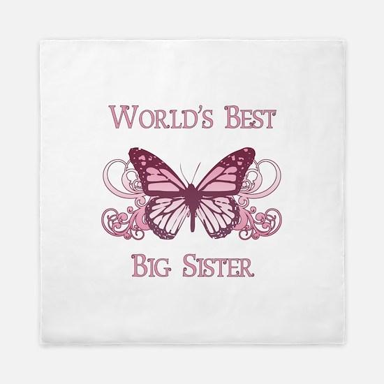 World's Best Big Sister (Butterfly) Queen Duvet