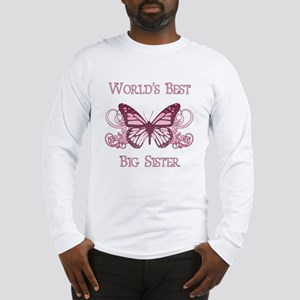 World's Best Big Sister (Butterfly) Long Sleeve T-