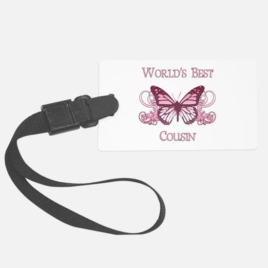 World's Best Cousin (Butterfly) Luggage Tag