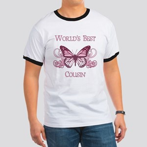 World's Best Cousin (Butterfly) Ringer T