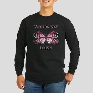 World's Best Cousin (Butterfly) Long Sleeve Dark T