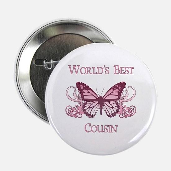 "World's Best Cousin (Butterfly) 2.25"" Button"