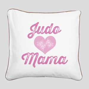 Judo Mom Square Canvas Pillow