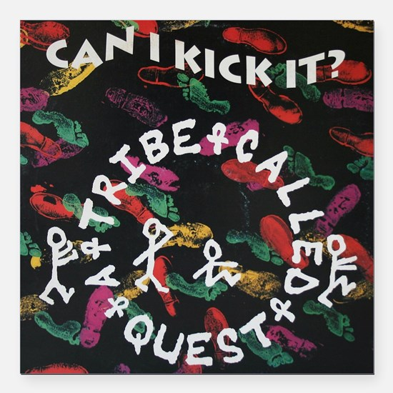 """ATCQ or A TRIBE CALLED Q Square Car Magnet 3"""" x 3"""""""