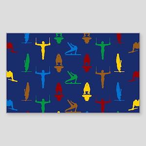Mens Gymnastics Sticker