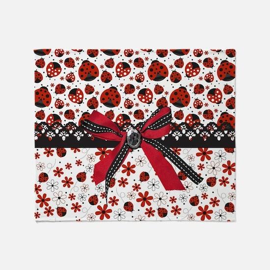 Dancing Ladybugs Throw Blanket