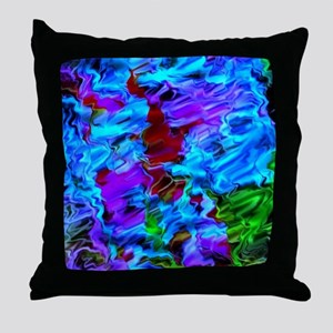 color vision, blue Throw Pillow