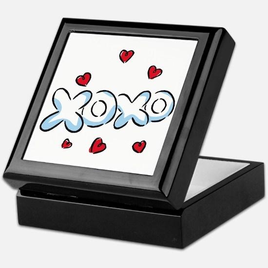 XOXO with Hearts Keepsake Box