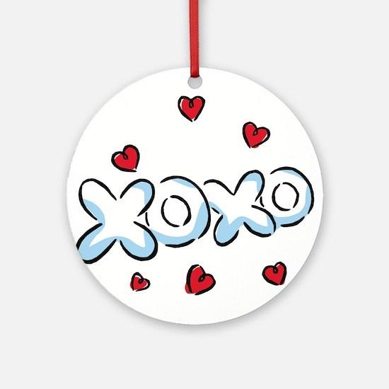 XOXO with Hearts Ornament (Round)