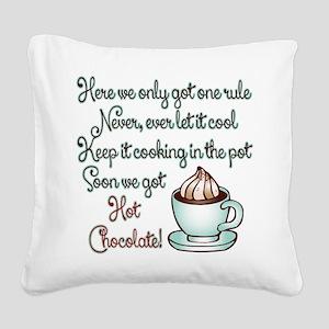 Polar Express Hot Chocolate Square Canvas Pillow