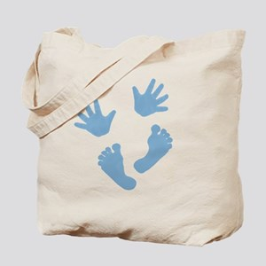 Baby Hands and Feet 2013 Blue Tote Bag