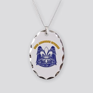 DUI - 82nd Airborne Division with Text Necklace Ov