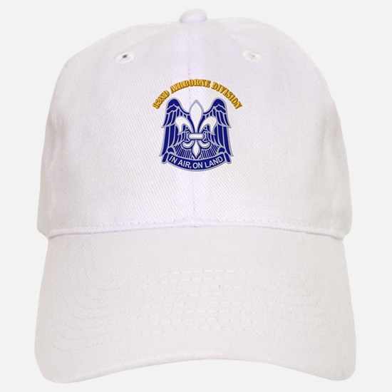 DUI - 82nd Airborne Division with Text Baseball Baseball Cap