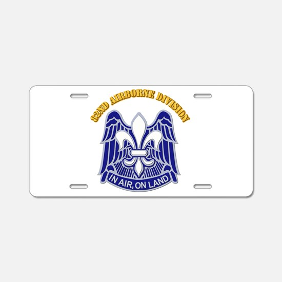DUI - 82nd Airborne Division with Text Aluminum Li