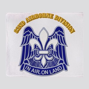 DUI - 82nd Airborne Division with Text Throw Blank