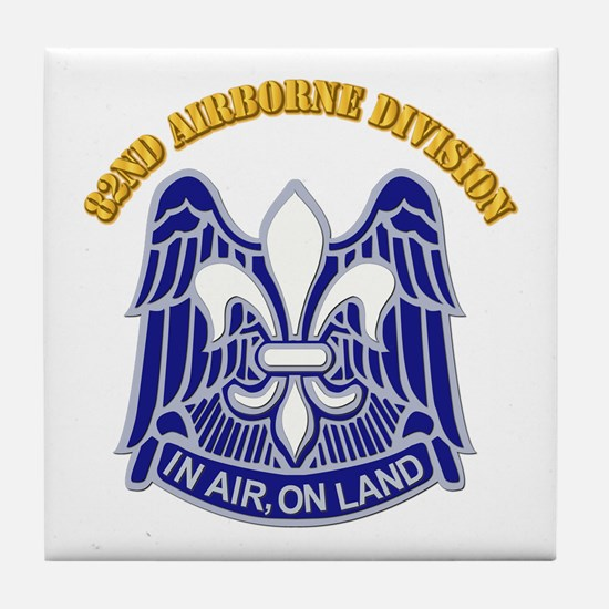 DUI - 82nd Airborne Division with Text Tile Coaste