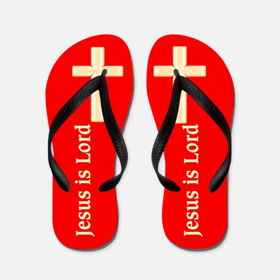 JESUS IS LORD Flip Flops