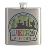 Weird California Logo Flask