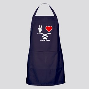 Peace Love Lhasa Apso Apron (dark)