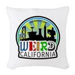 Weird California Logo Woven Throw Pillow