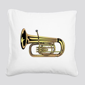 Tuba Square Canvas Pillow