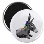 Rainbow Democrat Magnet