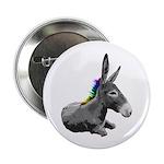 Rainbow Democrat Button