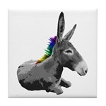 Rainbow Democrat Tile Coaster