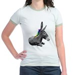 Rainbow Democrat Jr. Ringer T-Shirt