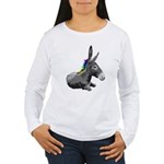 Rainbow Democrat Women's Long Sleeve T-Shirt