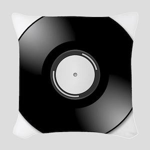 Vinyl Record Woven Throw Pillow