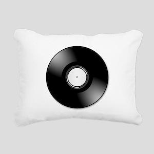 Vinyl Record Rectangular Canvas Pillow