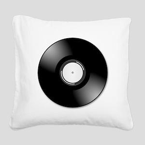 Vinyl Record Square Canvas Pillow