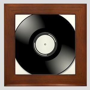 Vinyl Record Framed Tile