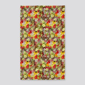 Red And Yellow Spring Flowers 3'X5' Area Rug