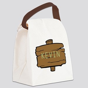 NAME, selectable Text Canvas Lunch Bag