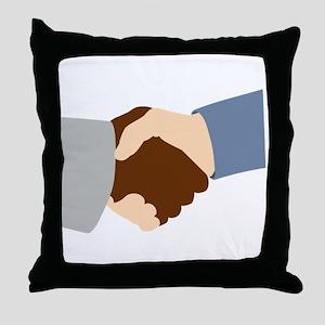 Handshake Throw Pillow