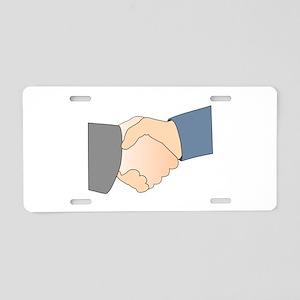Handshake Aluminum License Plate