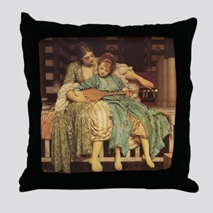 Music Lesson, 1884 painting by Freder Throw Pillow