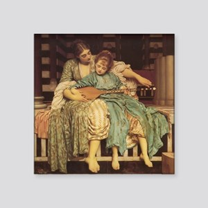 "Music Lesson, 1884 painting Square Sticker 3"" x 3"""